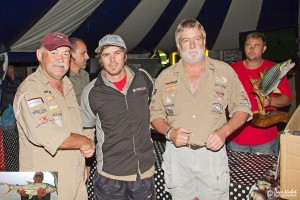 104.1  Jozini 2013 16th TFT - Winner - Paul Knock with Wesley Danielis of Titan Outboards