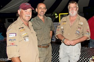 104.4 Jozini 2013 16th TFT - Winner - Paul Knock with Ferdi Myburgh of Ezemvelo KZN Wildlife and Chris Digges