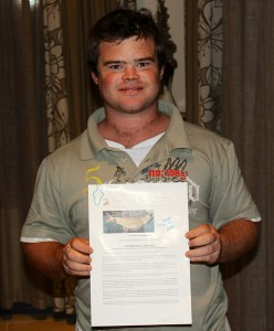 107.2  Jozini 2013 16th TFT - Raffle Winner - 2nd Place - Bradley Ansell - Ichobezi River Lodges